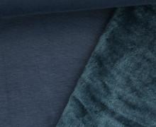 Alpenfleece - Kuschelstoff - Uni - Nachtblau