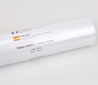 Matte Vinylfolie - 21x300cm - Weiß