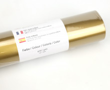 Glänzende Vinylfolie - 21x300cm - Gold