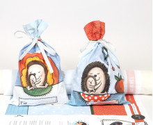 DIY-NÄHSET - 2 Weihnachtsbeutel - Geschenkbeutel - Igel - Formenfroh - abby and me