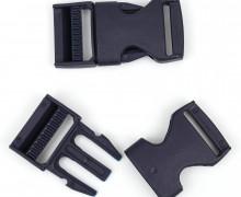 2 Steckschnallen - 25mm - Kunststoff - Schwarzblau