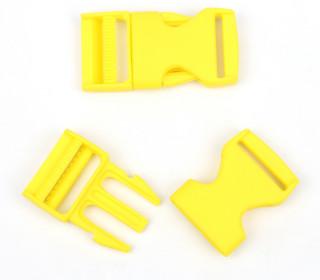 2 Steckschnallen - 25mm - Kunststoff - Gelb