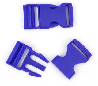 2 Steckschnallen - 25mm - Kunststoff - Royalblau