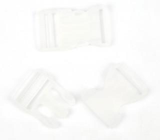 2 Steckschnallen - 30mm - Kunststoff - Transparent