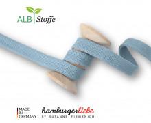 Hoodiekordel - Flachkordel - Cord Me - 12mm - Bliss - Uni - Hamburger Liebe - Hellblau