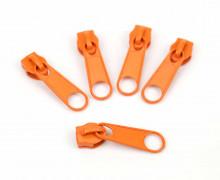 1 Set aus 5 Zippern – Für Endlosreißverschlüsse – Breit – Orange (158)