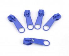 1 Set aus 5 Zippern - Für Endlosreißverschlüsse - Breit - Blau (340)