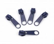 1 Set aus 5 Zippern – Für Endlosreißverschlüsse – Breit – Nachtblau (330)