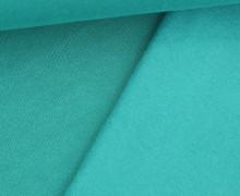 Kuschelsweat Light - Uni - Meergrün - Sweat Angeraut