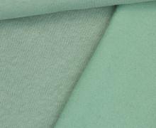 Kuschelsweat Light - Uni - Lichtgrün - Sweat Angeraut