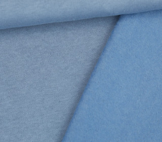Kuschelsweat Light - Uni - Taubenblau Hell - Sweat Angeraut