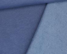 Kuschelsweat Light - Uni - Taubenblau Dunkel - Sweat Angeraut