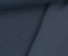 Kuschelsweat Light - Uni - Nachtblau - Sweat Angeraut