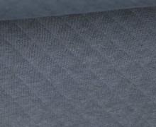 Weicher Steppstoff - Baumwolle - Rauten - Dunkelgrau