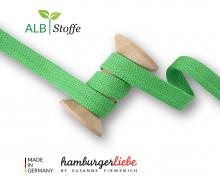 Hoodiekordel - Flachkordel - Cord Me - 12mm - Plain Stitches - Uni - Hamburger Liebe - Hellgrün