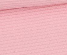 Waffel Piqué - Baumwolle - Uni - Rosa