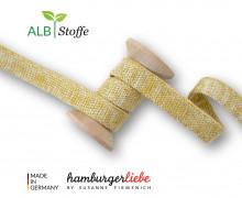 Hoodiekordel - Flachkordel - Cord Me - Melange - Plain Stitches - Uni - Hamburger Liebe - Senfgelb