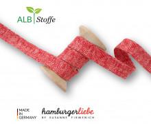 Hoodiekordel - Flachkordel - Cord Me - Melange - Plain Stitches - Uni - Hamburger Liebe - Rot