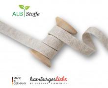 Hoodiekordel - Flachkordel - Cord Me - Melange - 12mm - Plain Stitches - Uni - Hamburger Liebe - Sand