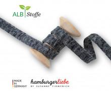 Hoodiekordel - Flachkordel - Cord Me - Melange - Plain Stitches - Uni - Hamburger Liebe - Schwarz