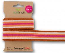 Streifenband - Stripe Me - College - 7Stripes - Plain Stitches - Multi - Hamburger Liebe - Orange/Pink/Glitzer
