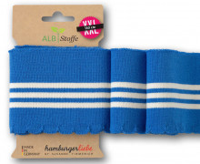 Bio-Bündchen - Wave - Wellenrand - 3Stripes - Plain Stitches - Multi - Cuff Me - Hamburger Liebe - Blau