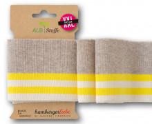 Bio-Bündchen - College - 4 Stripes - Plain Stitches - Multi - Cuff Me - Hamburger Liebe - Beige