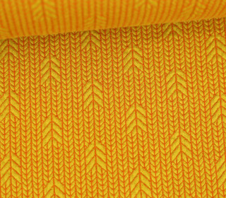 Bio-Elastic Minijacquard Jersey - 3D - Up Knit - Plain Stitches - Senfgelb/Orange - Hamburger Liebe