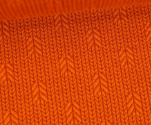 Bio-Elastic Minijacquard Jersey - 3D - Up Knit - Plain Stitches - Orange/Rostorange - Hamburger Liebe