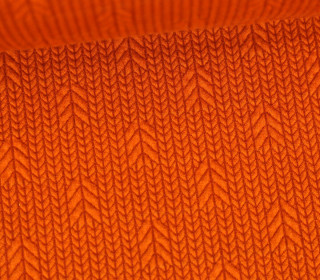 Bio-Elastic Minijacquard Jersey – 3D – Up Knit – Plain Stitches – Orange/Rostorange – Hamburger Liebe