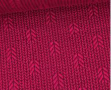Bio-Elastic Minijacquard Jersey - 3D - Up Knit - Plain Stitches - Beere/Aubergine - Hamburger Liebe
