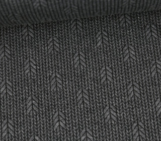 Bio-Elastic Minijacquard Jersey - 3D - Up Knit - Plain Stitches - Grau/Schwarz - Hamburger Liebe