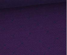 Bio-Elastic Minijacquard Jersey - 3D - Weave Knit - Plain Stitches - Lila/Schwarzblau - Hamburger Liebe