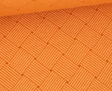 Bio-Elastic Minijacquard Jersey - 3D - Weave Knit - Plain Stitches - Pastellorange/Orange - Hamburger Liebe