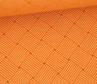 Bio-Elastic Minijacquard Jersey – 3D – Weave Knit – Plain Stitches – Pastellorange/Orange – Hamburger Liebe
