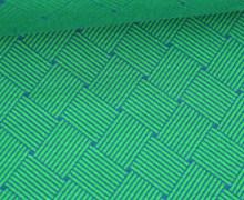 Bio-Elastic Minijacquard Jersey - 3D - Weave Knit - Plain Stitches - Grün/Petrol - Hamburger Liebe
