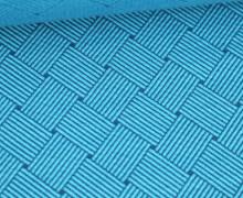 Bio-Elastic Minijacquard Jersey - 3D - Weave Knit - Plain Stitches - Türkis/Petrol - Hamburger Liebe
