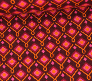 Bio-Jacquard - 6Farb Spezial Jacquard - Square Dance - Plain Stitches - Bordeaux - Hamburger Liebe