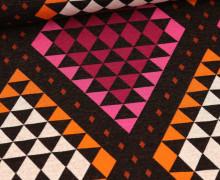 Bio-Jacquard - 6Farb Spezial Jacquard - Cozy Plaid - Plain Stitches - Schwarz - Hamburger Liebe
