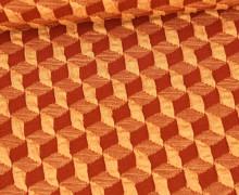 Bio-Elastic Minijacquard Jersey - 3D - Diced Knit - Plain Stitches - Lehmbraun/Pastellorange - Hamburger Liebe