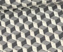 Bio-Elastic Minijacquard Jersey - 3D - Diced Knit - Plain Stitches - Grau/Warmweiß - Hamburger Liebe