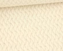 Bio-Elastic Minijacquard Jersey - 3D - Basket Knit - Plain Stitches - Warmweiß - Hamburger Liebe
