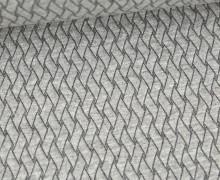 Bio-Elastic Minijacquard Jersey - 3D - Basket Knit - Plain Stitches - Hellgrau - Hamburger Liebe