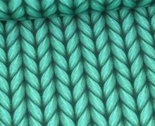 Leichter Bio-Kuschelsweat - Lookalike - XXL Knit - Plain Stitches - Türkis - Hamburger Liebe