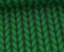 Leichter Bio-Kuschelsweat - Lookalike - XXL Knit - Plain Stitches - Grün - Hamburger Liebe