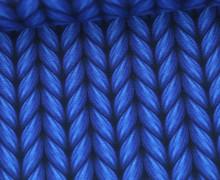 Leichter Bio-Kuschelsweat - Lookalike - XXL Knit - Plain Stitches - Royalblau - Hamburger Liebe