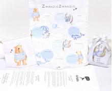 DIY-NÄHSET - Kalenderwimpel 2020 - Geschenkbeutel - Wimpel - Seebande - Weiß - Treeebird - abby and me