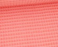 Waffel Piqué - Baumwolle - 275g - Koralle