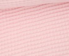 Waffel Piqué - Baumwolle - 275g - Pastellrosa
