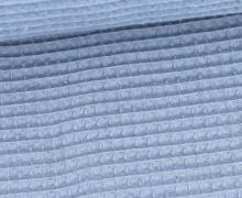 Waffel Piqué - Baumwolle - 275g - Graublau